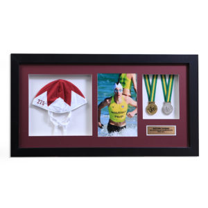 swimming-cap-medals-photo-framed