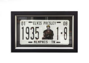 elvis-number-plate-framed