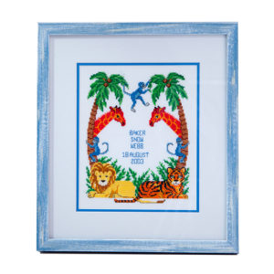blue-frame-cross-stitch