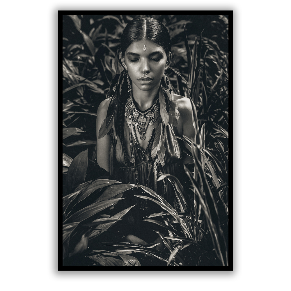 tribal girl print