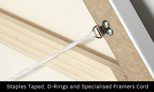 canvas with drings and string for hanging