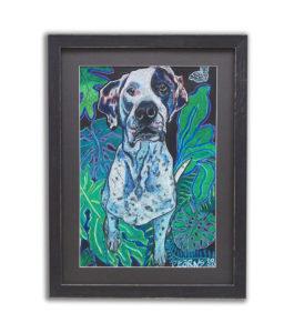 dog print framed