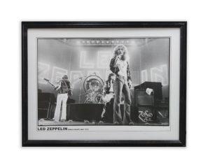 led zeplin photo framed